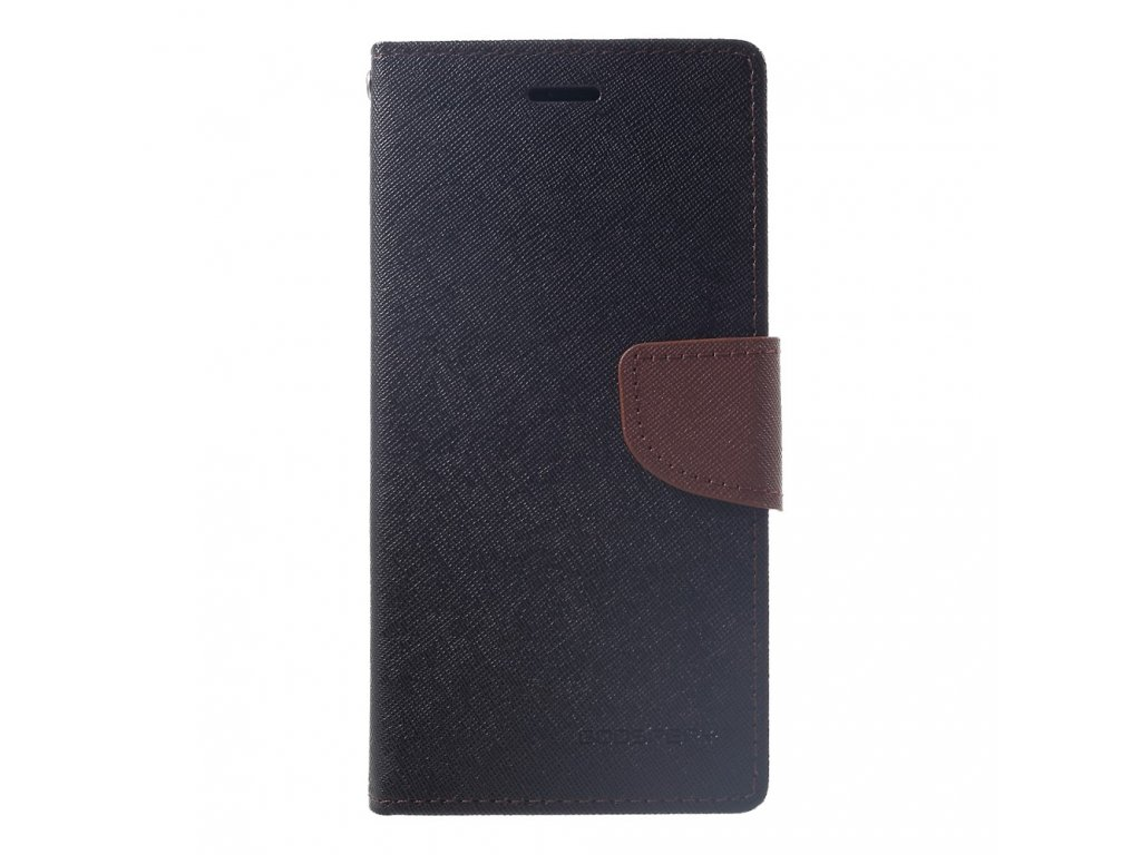 Pouzdro / kryt pro iPhone XR - Mercury, Fancy Diary Black/Brown
