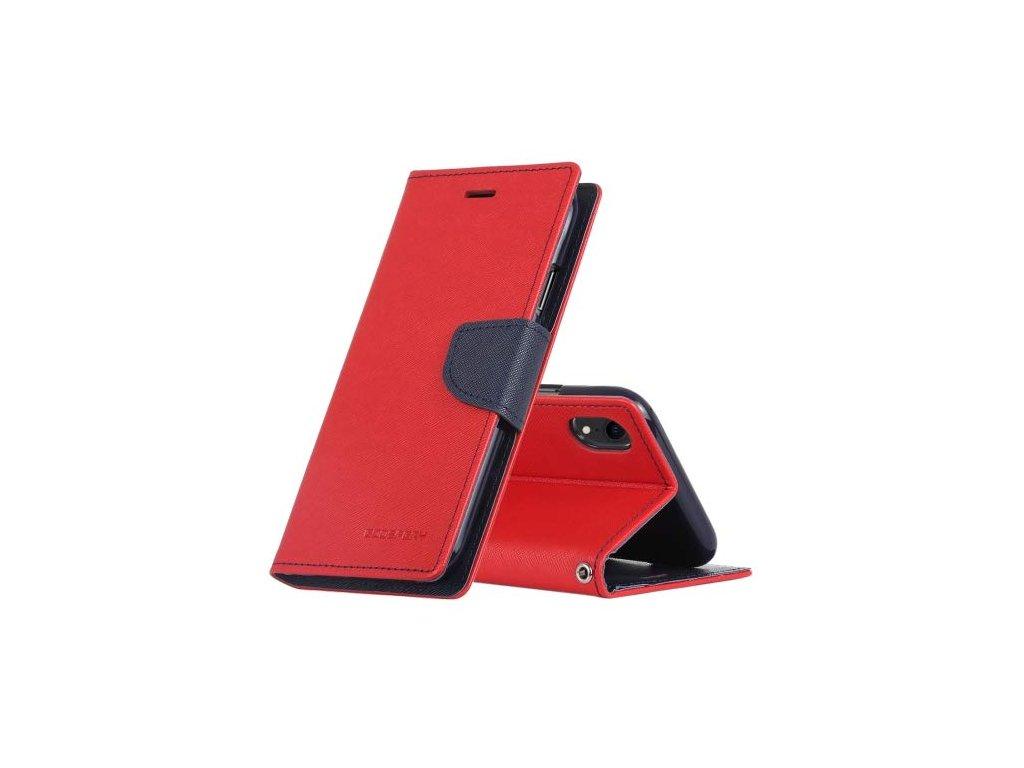 Pouzdro / kryt pro iPhone XR - Mercury, Fancy Diary Red/Navy