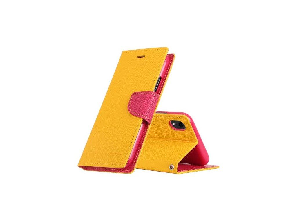 Pouzdro / kryt pro iPhone XR - Mercury, Fancy Diary Yellow/HotPink