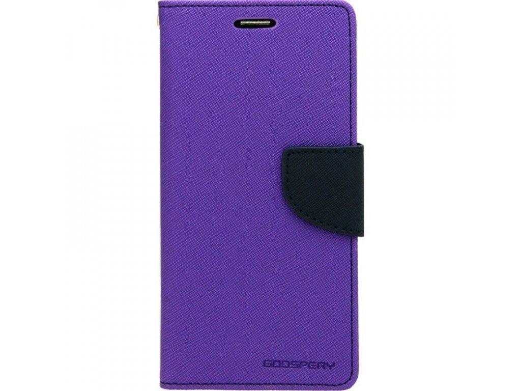 Pouzdro / kryt pro iPhone XR - Mercury, Fancy Diary Purple/Navy