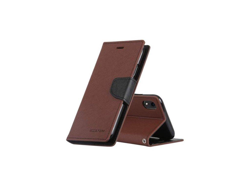 Pouzdro / kryt pro iPhone XR - Mercury, Fancy Diary Brown/Black