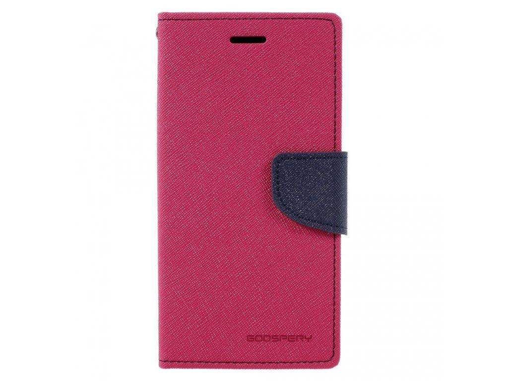 Pouzdro / kryt pro Samsung GALAXY A8 (2018) A530F - Mercury, Fancy Diary HotPink/Navy