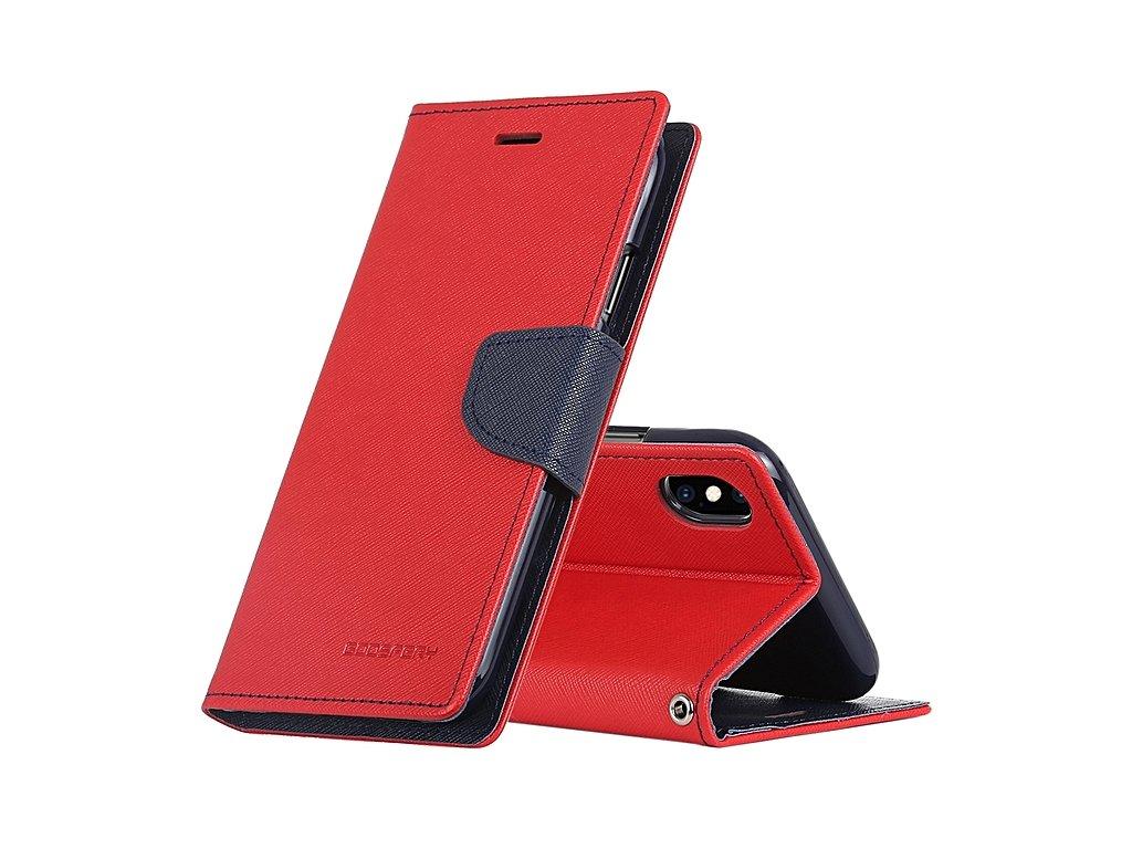 Pouzdro / kryt pro iPhone XS MAX - Mercury, Fancy Diary Red/Navy