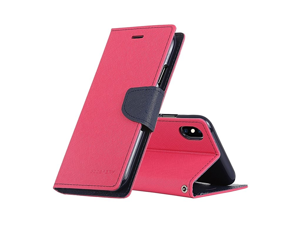 Pouzdro / kryt pro iPhone XS MAX - Mercury, Fancy Diary HotPink/Navy