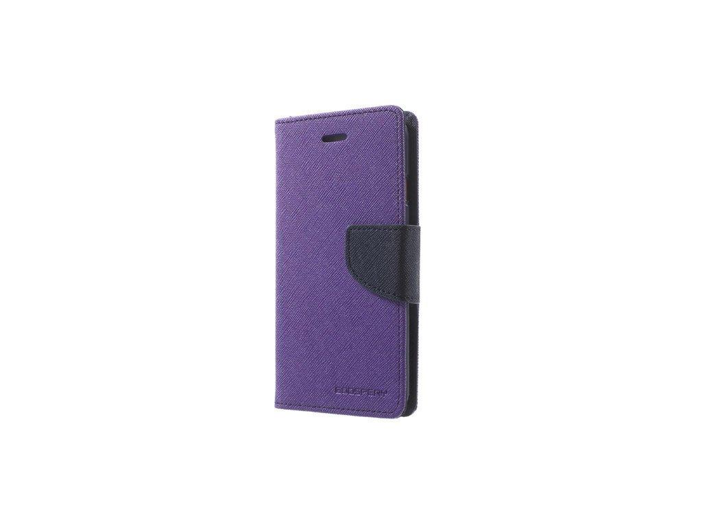 Pouzdro / kryt pro iPhone XS MAX - Mercury, Fancy Diary Purple/Navy