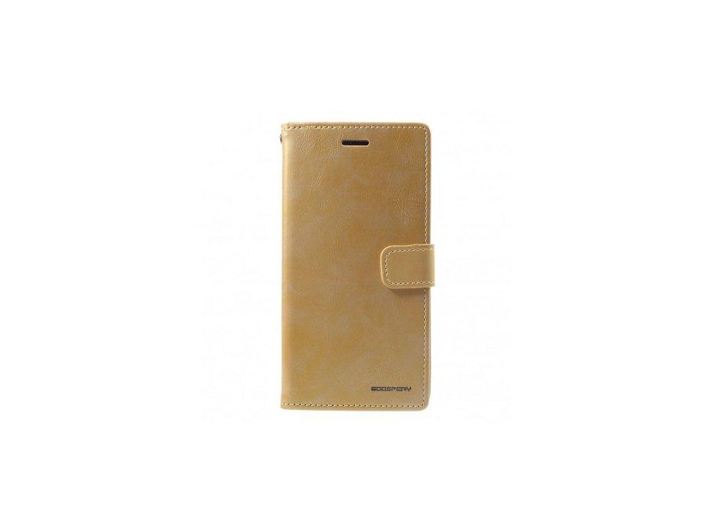 Pouzdro / kryt pro iPhone XR - Mercury, Bluemoon Diary Gold