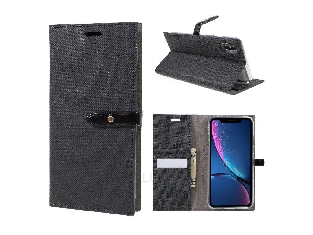 Pouzdro / kryt pro iPhone XS MAX - Mercury, Milano Diary Black/Black