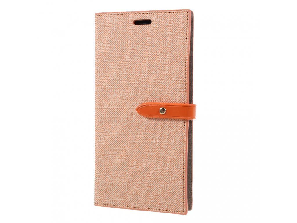 Pouzdro / kryt pro iPhone XS MAX - Mercury, Milano Diary Orange/Orange