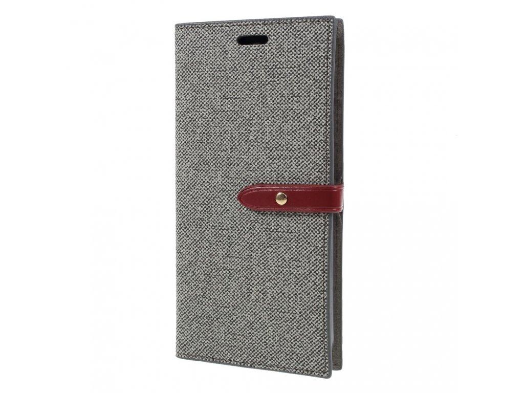 Pouzdro / kryt pro iPhone XS MAX - Mercury, Milano Diary Grey/Wine