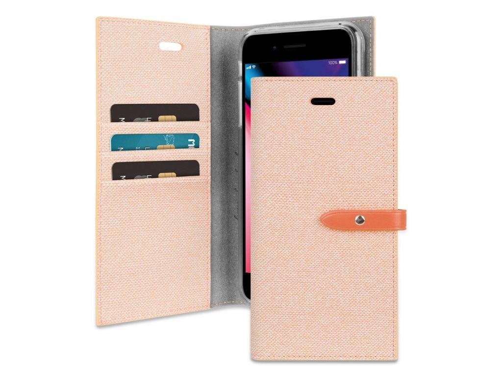 Pouzdro / kryt pro iPhone 7 Plus / 8 Plus - Mercury, Milano Diary Orange/Orange