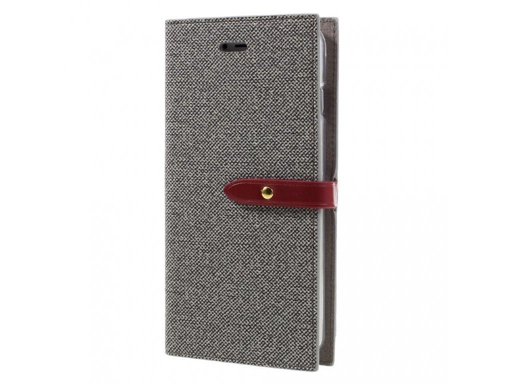 Pouzdro / kryt pro iPhone 7 Plus / 8 Plus - Mercury, Milano Diary Grey/Wine