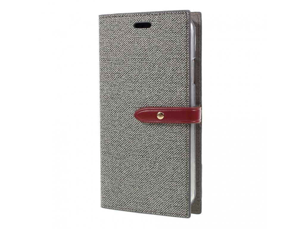 Pouzdro / kryt pro iPhone XR - Mercury, Milano Diary Grey/Wine