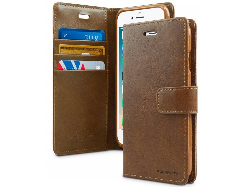 Pouzdro / kryt pro iPhone 7 Plus / 8 Plus - Mercury, Bluemoon Diary Brown