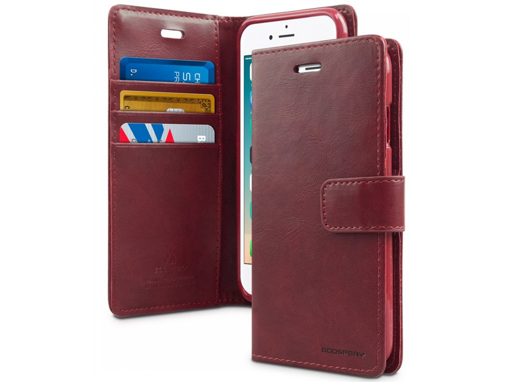 Pouzdro / kryt pro iPhone 7 Plus / 8 Plus - Mercury, Bluemoon Diary Wine