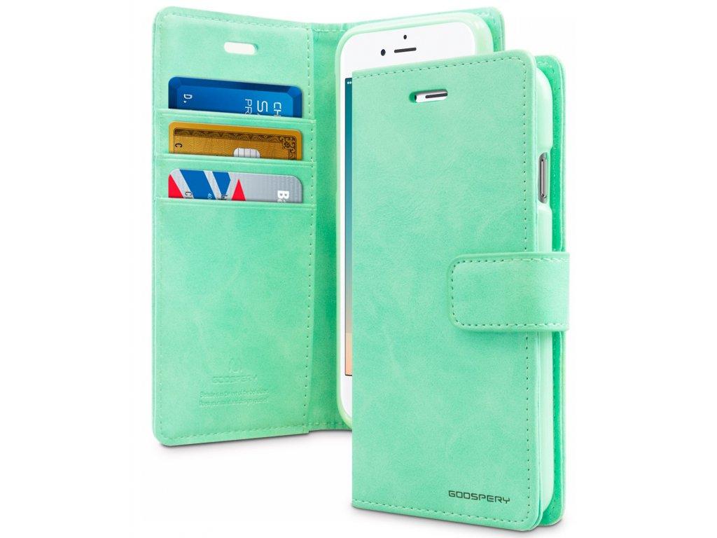 Pouzdro / kryt pro iPhone 7 Plus / 8 Plus - Mercury, Bluemoon Diary Mint