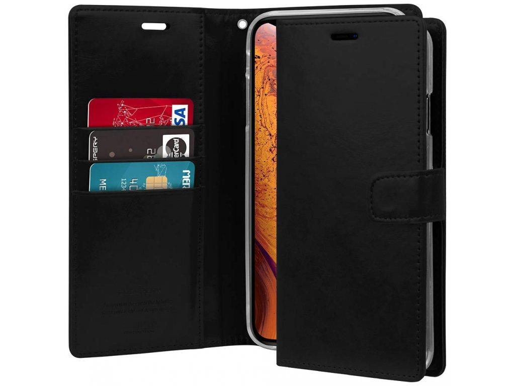 Pouzdro / kryt pro iPhone XS MAX - Mercury, Bluemoon Diary Black