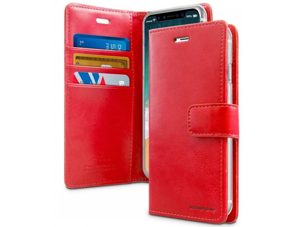 Pouzdro / kryt pro iPhone XS MAX - Mercury, Bluemoon Diary Red