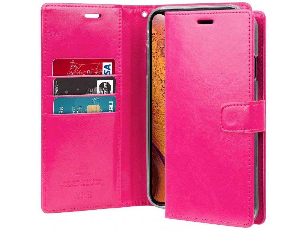 Pouzdro / kryt pro iPhone XS MAX - Mercury, Bluemoon Diary HotPink