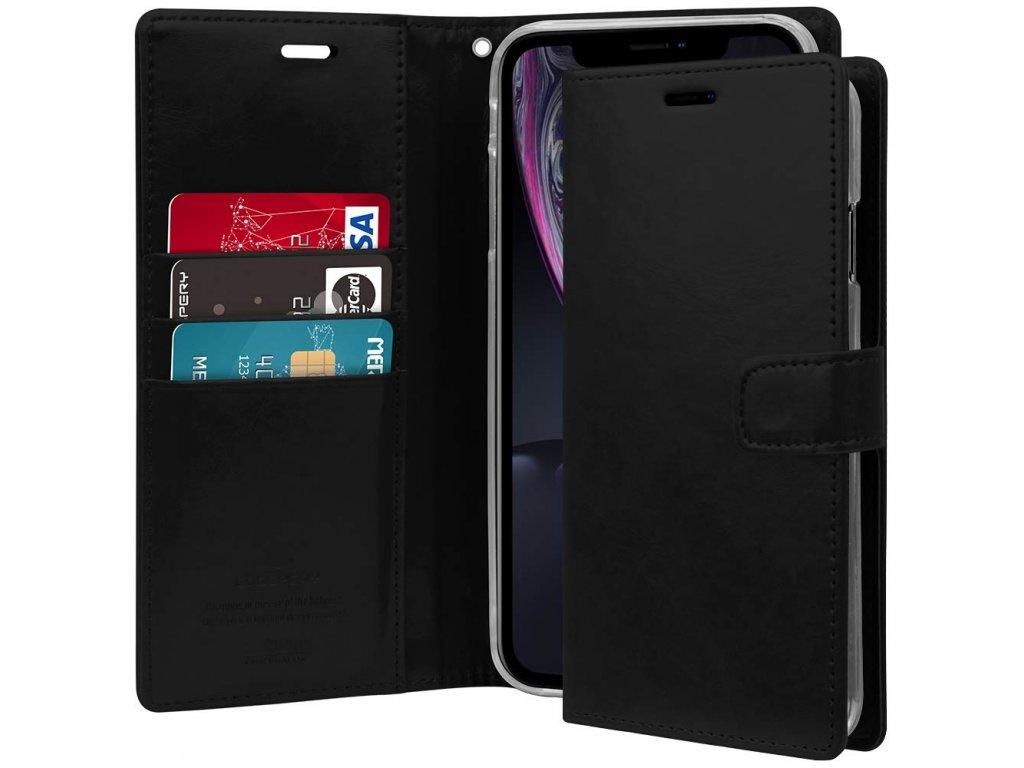 Pouzdro / kryt pro iPhone XR - Mercury, Bluemoon Diary Black
