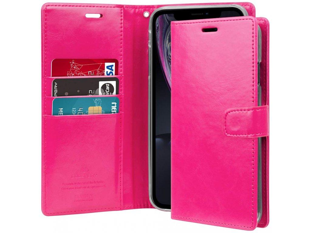Pouzdro / kryt pro iPhone XR - Mercury, Bluemoon Diary HotPink