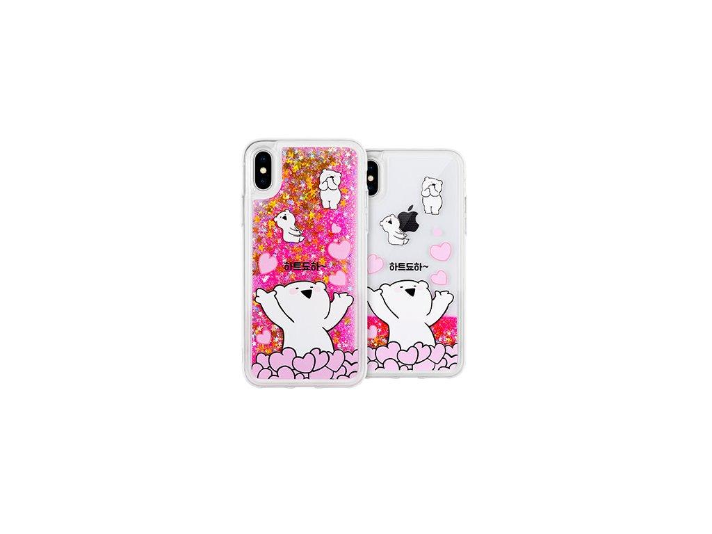 Ochranný kryt pro iPhone 7 / 8 - Mercury, Rabbit Glitter Heart