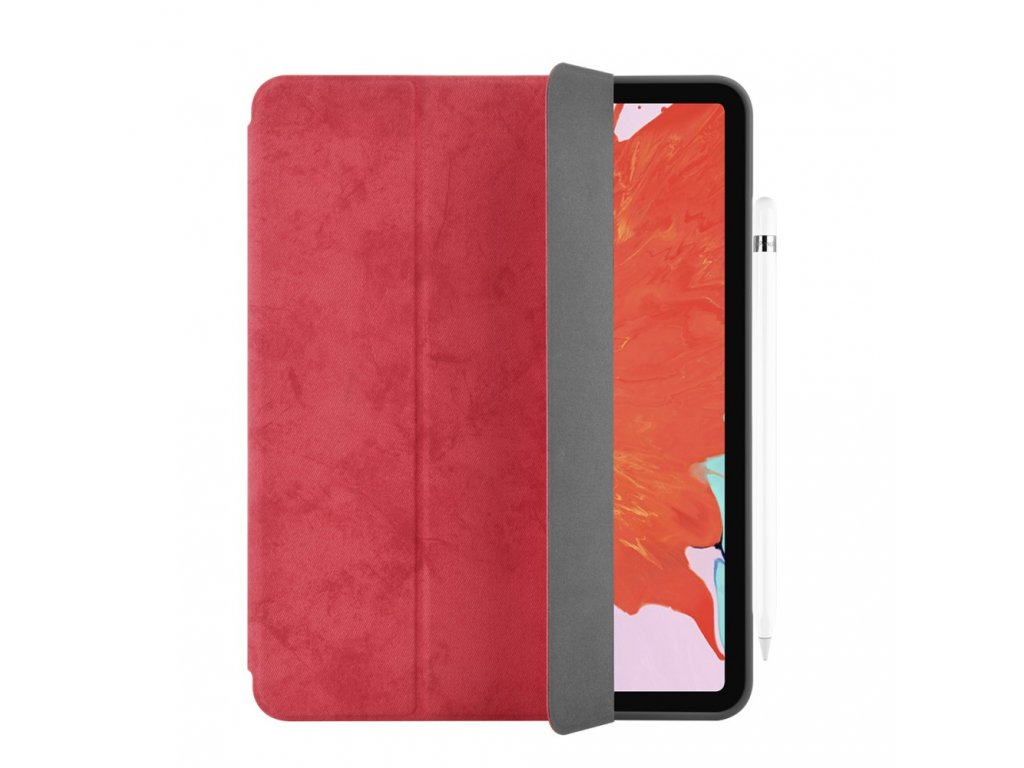Pouzdro / kryt pro iPad Pro 12.9 (2018) - Comma, Leather Case Red (Pencil Slot)