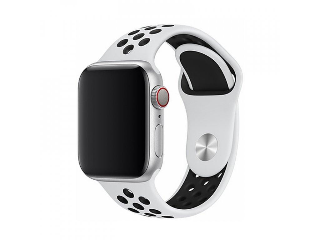 Řemínek pro Apple Watch 38mm / 40mm - Devia, Sport2 White