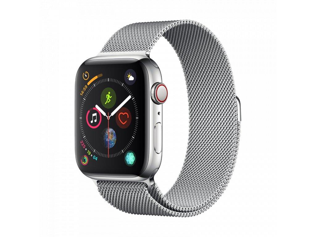 Řemínek pro Apple Watch 42mm / 44mm - Devia, Milanese Silver