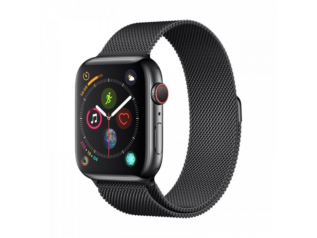 Řemínek pro Apple Watch 42mm / 44mm - Devia, Milanese Black