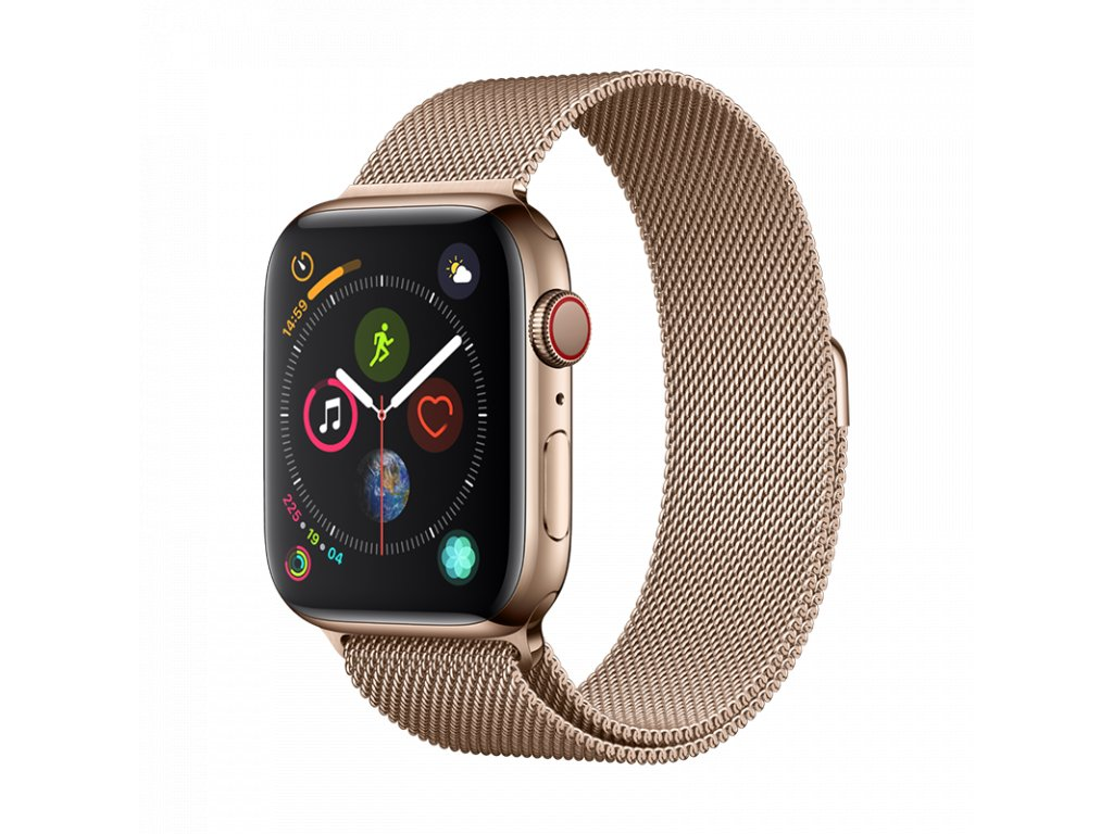 Řemínek pro Apple Watch 42mm / 44mm - Devia, Milanese Gold