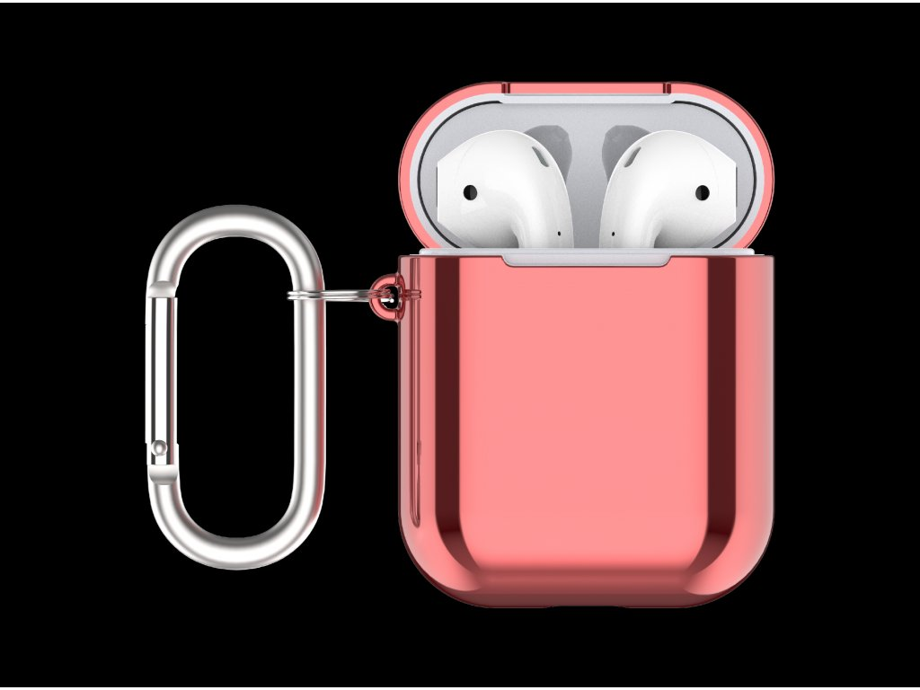 Pouzdro pro sluchátka AirPods - Devia, Electroplate Red