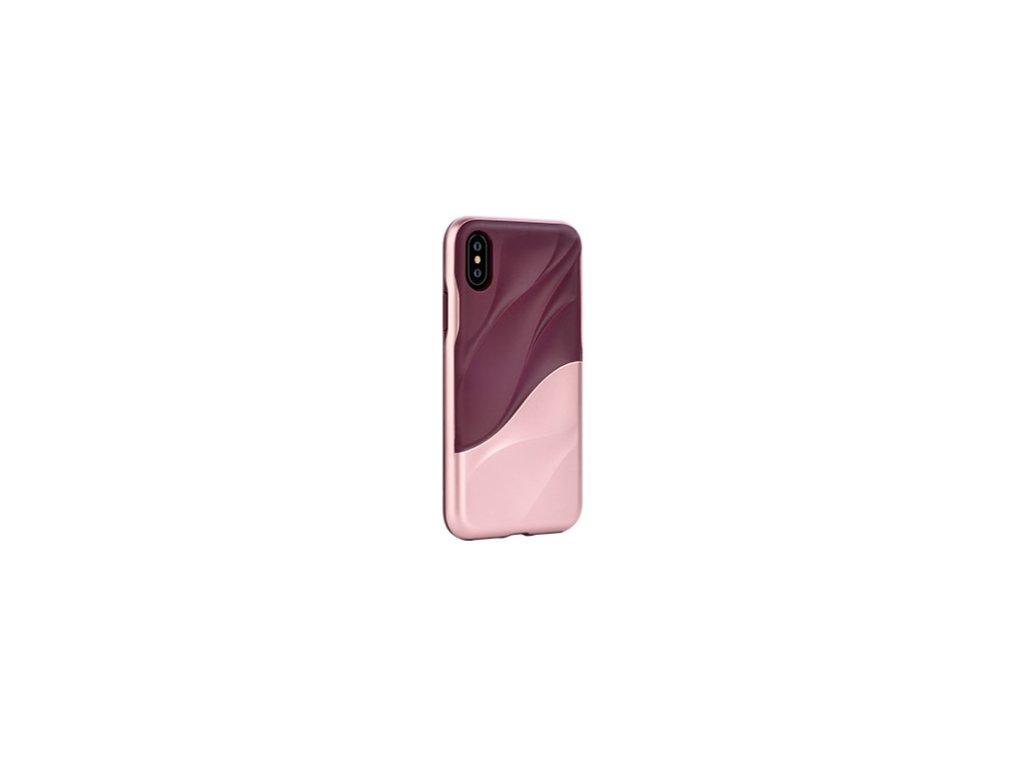 Ochranný kryt pro iPhone XS - Devia, Wave Pink