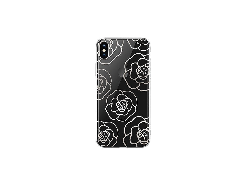 Ochranný kryt pro iPhone XS - Devia, Camellia Silver