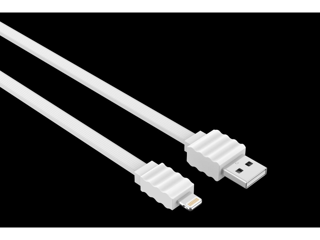 Kabel Lightning pro iPhone a iPad - Devia, Flat White