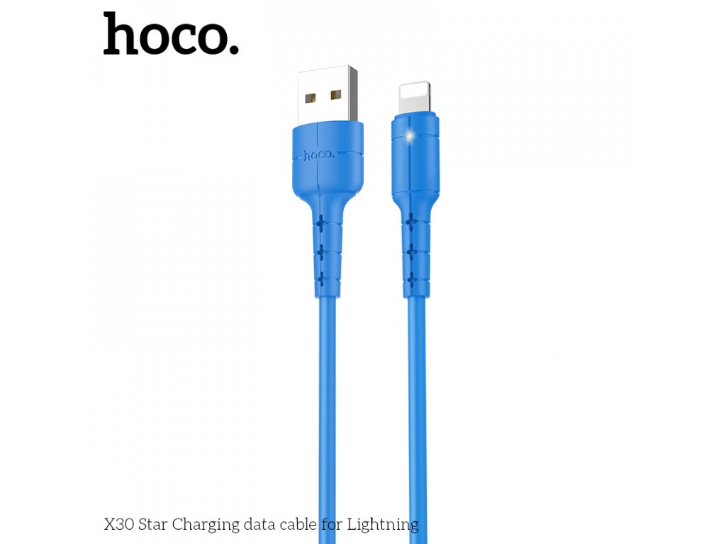 Kabel Lightning pro iPhone a iPad - Hoco, X30 Star Blue