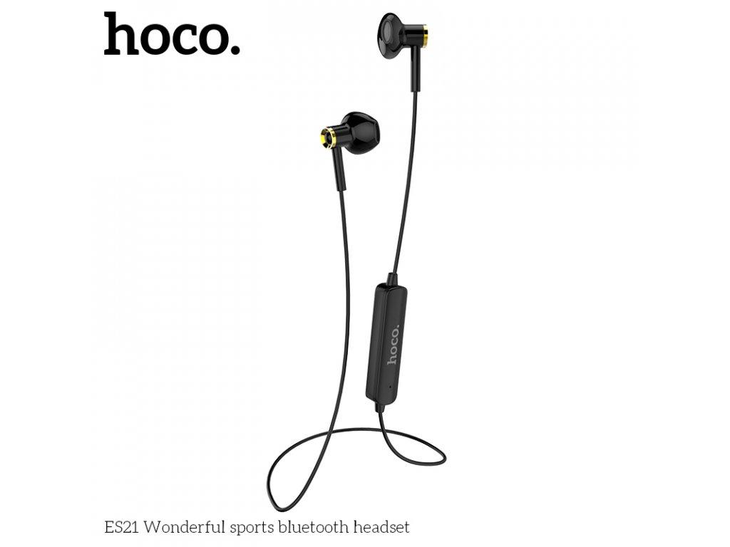 Sportovní bezdrátová sluchátka pro iPhone a iPad - Hoco, ES21 WonderfulSports Black