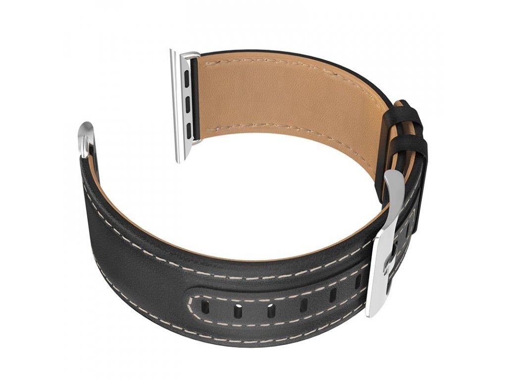Kožený řemínek pro Apple Watch 42mm / 44mm - HOCO, WB04 Duke Black