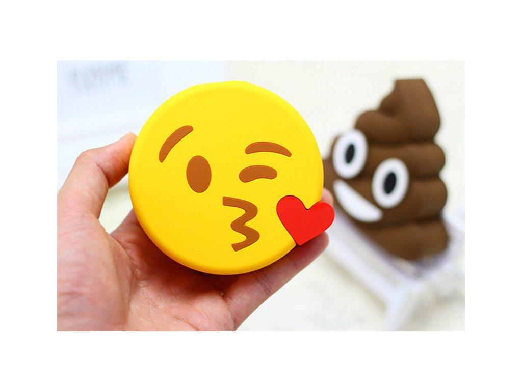 Externí baterie / POWERBANKA - Emoji, Kiss
