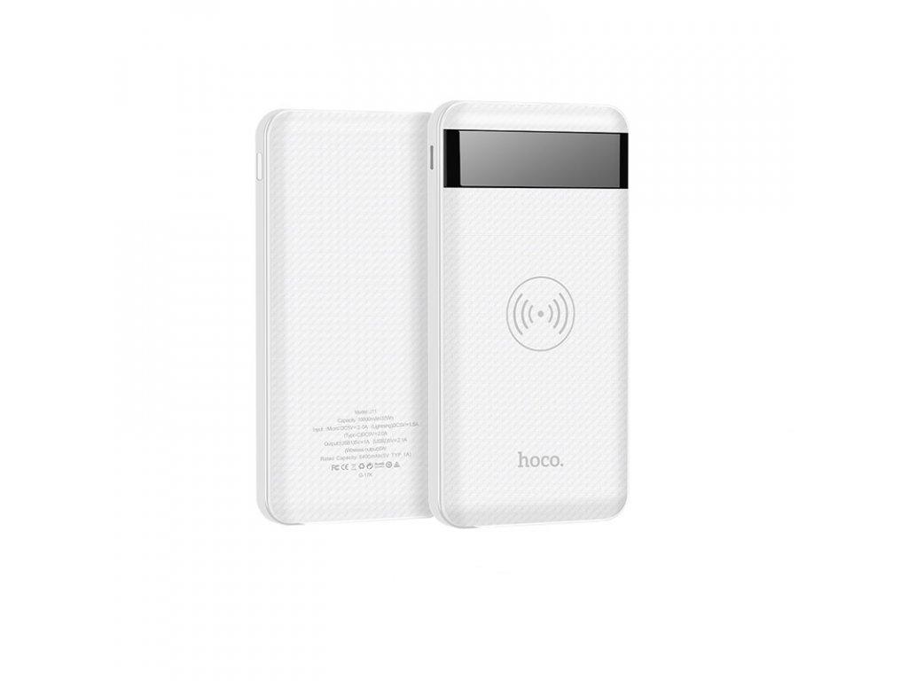 Bezdrátová externí baterie / Powerbanka - Hoco, J11 Astute 10000mAh White