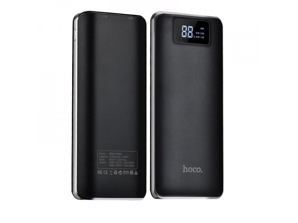 Externí baterie / powerbanka - HOCO, B23A Flowed 15000mAh Black