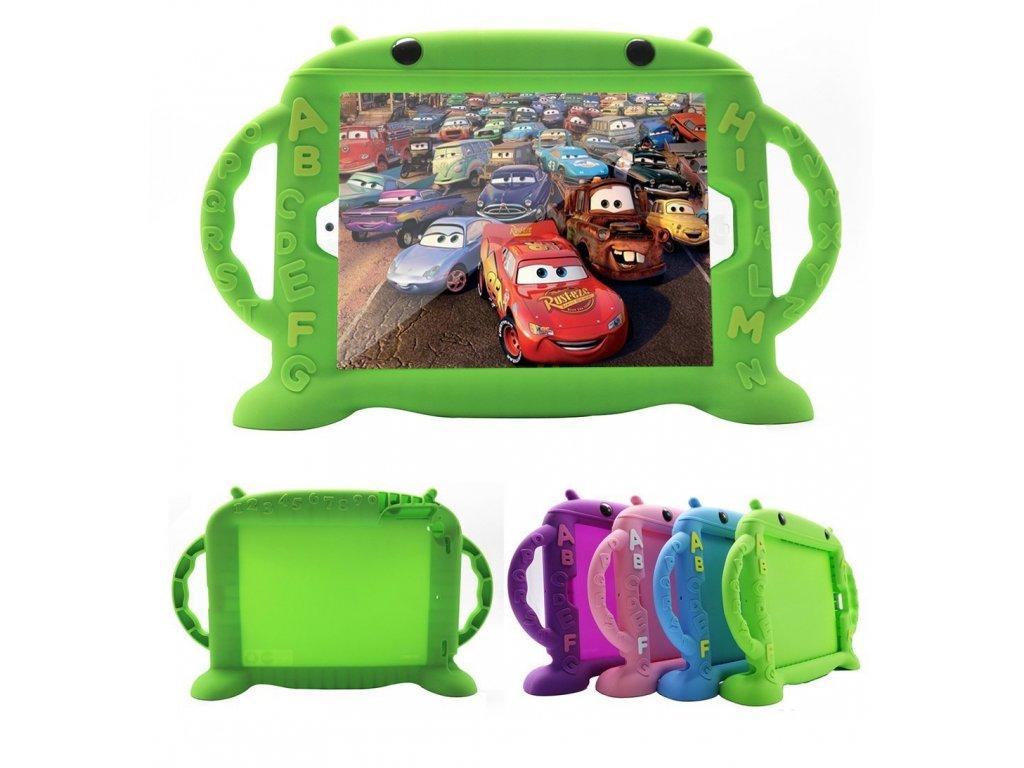 Dětské pouzdro pro iPad Air 1 / Air 2 / 2017 / 2018 - Cartoon Monkey, Green