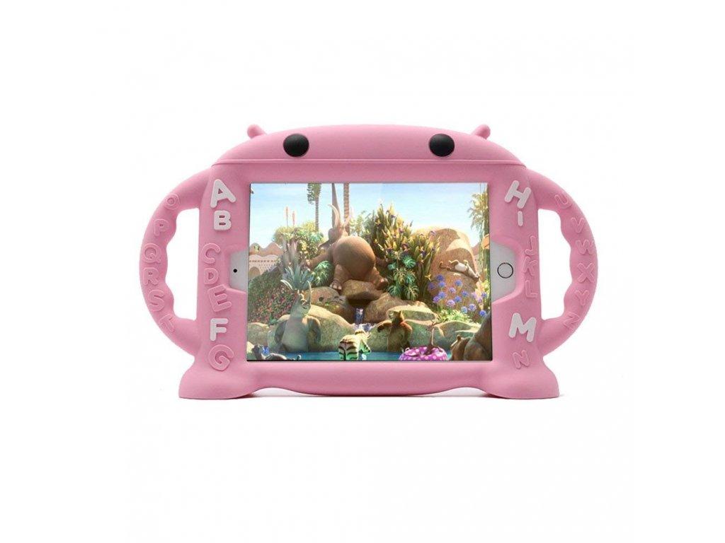 Dětské pouzdro pro iPad mini 1 / 2 / 3 / 4 - Cartoon Monkey, Pink