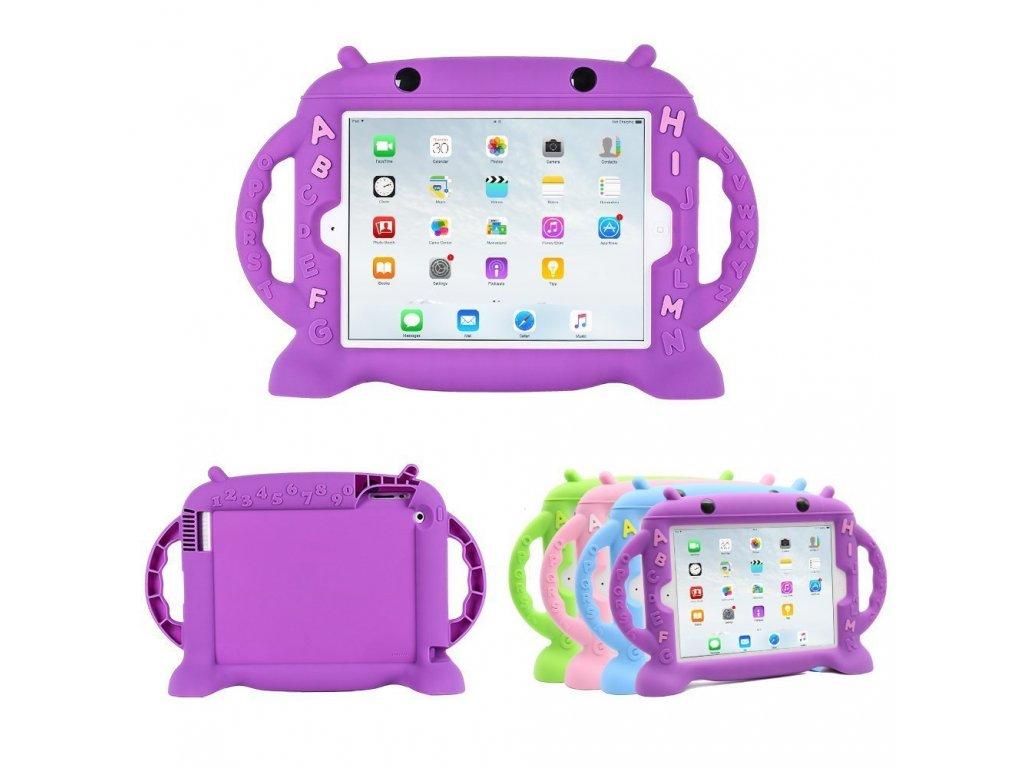 Dětské pouzdro pro iPad 2 / 3 / 4 - Cartoon Monkey, Purple