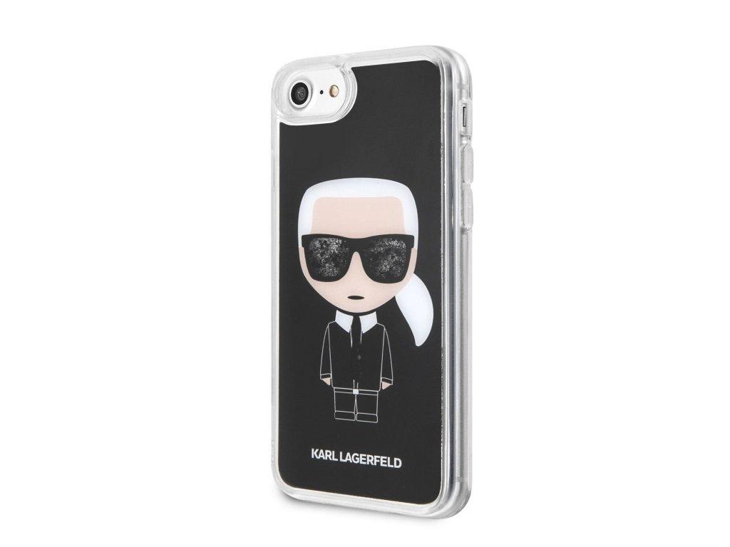 Ochranný kryt pro iPhone 8 / 7 / 6s / 6 / SE (2020) - Karl Lagerfeld, Iconic Glitter Black