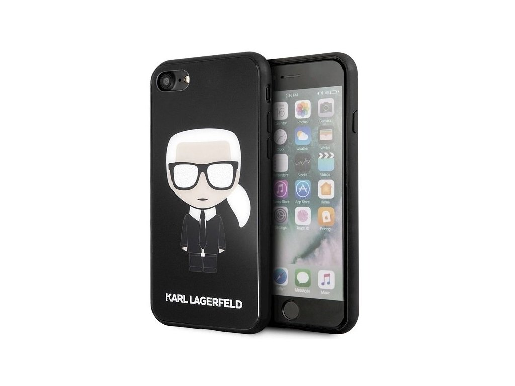 Kryt pro iPhone 7 / 8 / SE (2020) - Karl Lagerfeld, Body Glitter Black