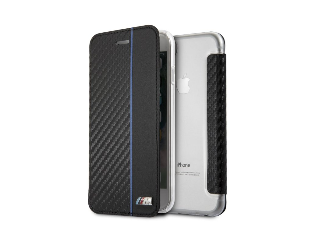 Pouzdro / kryt pro iPhone 7 / 8 - BMW, Carbon Book Navy