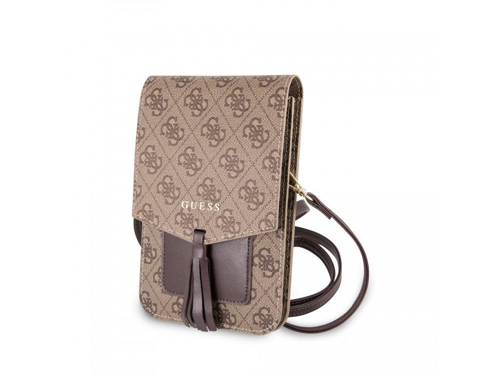 Univerzální pouzdro / taška s kapsou na mobil - Guess, 4G Wallet Beige