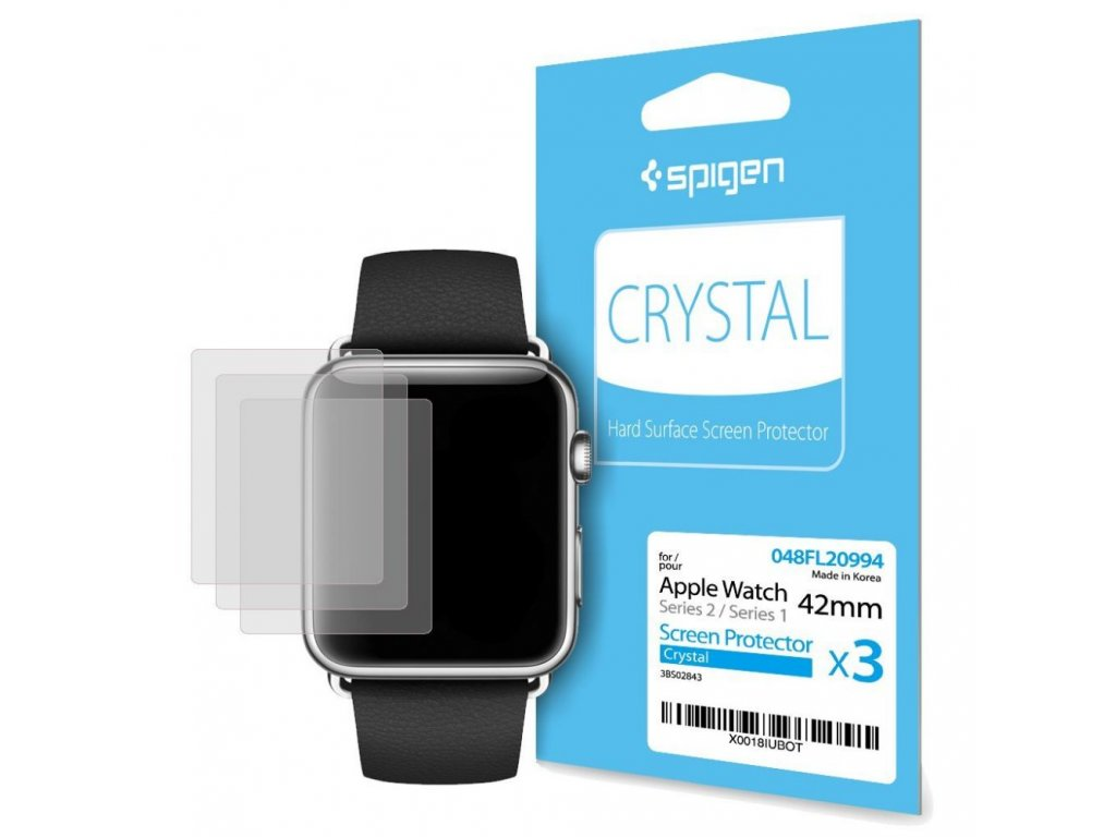 Ochranná fólie pro Apple Watch 42mm - Spigen, Film Crystal (3ks)