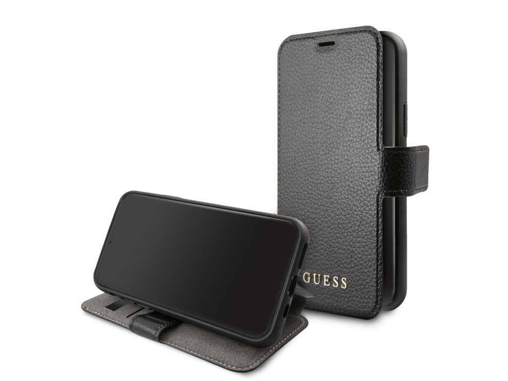 Pouzdro / kryt pro iPhone 11 Pro - Guess, Iridescent Book Black