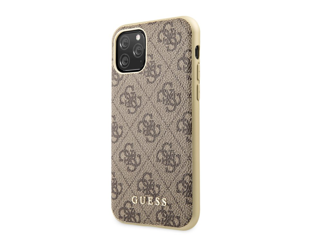 Ochranný kryt na iPhone 11 Pro - Guess, 4G Cover Brown